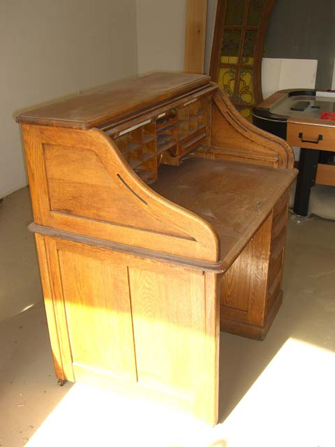 Roll Top Desk Side