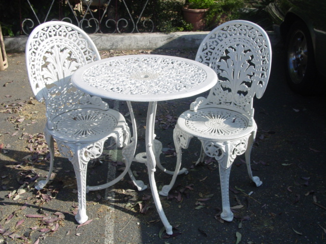 aluminum garden table chairs